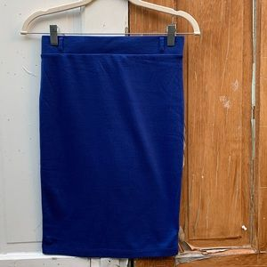 Iris Los Angeles royal blue skirt Size Small